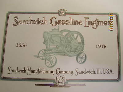 1916 Sandwich Manu. Co Sandwich Gas Engine  Catalog All sizes