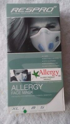 Respro Allergy Face Mask Particle & Chemical Sensitivity Large sealed