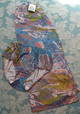 VTG 60s DEADSTOCK w/Tags VALLEY Of the DOLLS Abstract Mid-Century Mod SLIP-PANTY