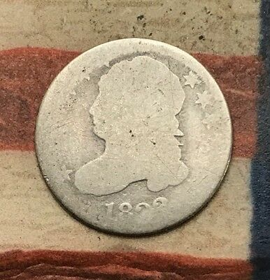 1823? 10C Capped Bust Dime 90% Silver Vintage US Coin #MP77 Rare Key Date
