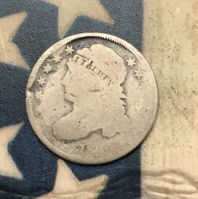 1809-1837 10C Capped Bust Dime 90% Silver Vintage US Coin #MP78