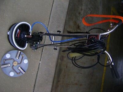 Used Janitorial Commercial Carpet Floor Steam Clean Buffer Powerwand Rotovac 360