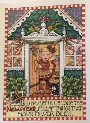 And Now Lets Welcome the New Year-Handmade Fridge Magnet-Mary Engelbreit Artwork