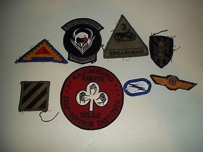 Wwi Wwii Korean War Vietnam Us Army Patch Lot #129