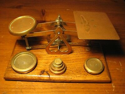 ANTIQUE BRITISH POSTAL SCALES C 1800's COMPLETE SET OF 6 WEIGHTS