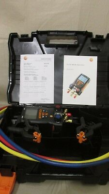 TESTO 550 HVAC Refrigeration Digital Manifold kit w/ Hoses & clamp CARRYING CASE