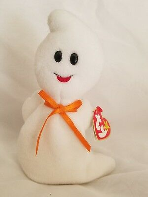 Halloween TY Beanie Baby Babies Spooky Ghost 10-31-1995 Retired Haunted Scare