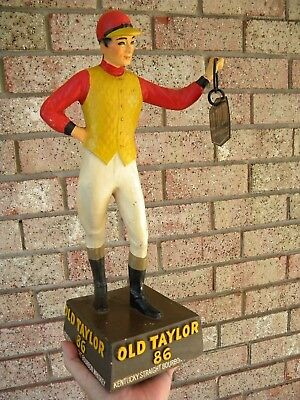 X OLD TAYLOR Whiskey Statue Store Display - LAWN JOCKEY Distillery FRANKFORT KY.