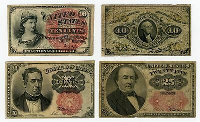 (4 Different) United States Fractional Currency Notes - NO RESERVE!