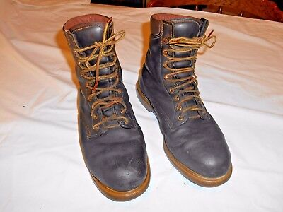 Vintage Red Wing Brown Leather Steel Toe Work Safety Boots Men's Size 8