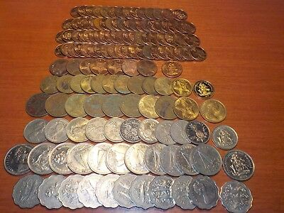 Mixed Lot of Circulated Coins from the  Bahamas