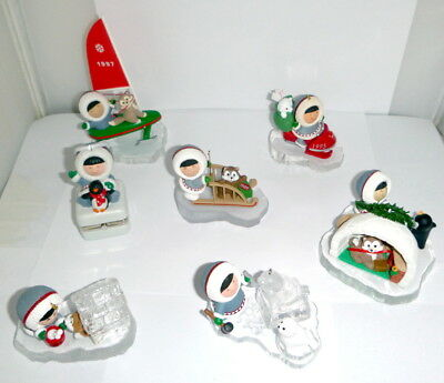 Lot Of Hallmark Frosty Friends Ornaments ALL EXCELLENT ! No boxes