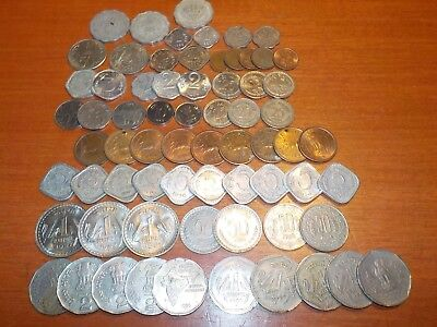Mixed Lot of Circulated Coins from India      1950's - 1990's