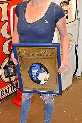 "Vintage Canadian Club Mirror Sign, 19 1/2"" x 14 1/2"", Woman"