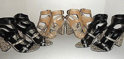 $436 WHOLESALE LOT 4 Womens Designer Leather Dress Heel Sandals shoes : Lot #1