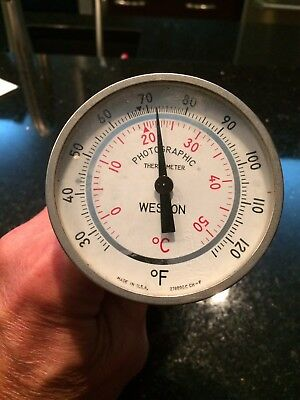 Vintage Photography Weston Photographic Thermometer