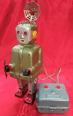 Vintage Nomura Toy Electric remote control tin RADAR ROBOT made in Japan 1960s