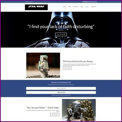 """Dropshipping Business STAR WARS - FREE DOMAIN + """"300 Hits A Day"""""""