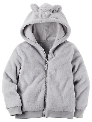 Carters Toddler Girls Fuzzy Mouse Ear Hoodie