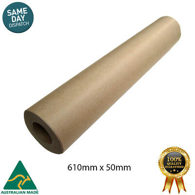 2 X Brown Packaging Kraft Paper Roll 600mm x 50m Packing Wrapping Kraft Gifts