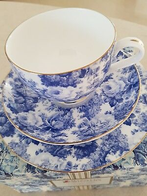 Maxwell & Williams ' Antique Blue' Bone China - Tea Cup, Saucer and Plate Set