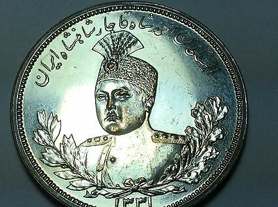 Persia,qajar,5000 Dinars,ah 1331 Silver Platted Bronze Pattern,rrr,one Of A Kind
