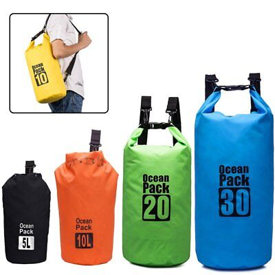 5L 10L 20L 30L Dry Carry Bag Waterproof Storage Sack Backpack Pouch Boat Sailing