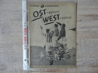 Programm  Ost-Berlin - West-Berlin  26.12.1954