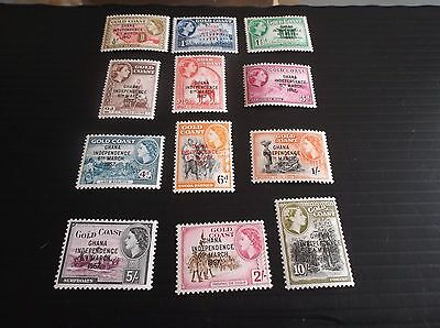 Ghana 1957 Sg 170-181 Definitives Mh