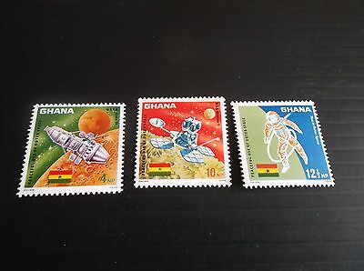 Ghana 1967 Sg 479-481 Peaceful Use Of Outer Space  Mnh