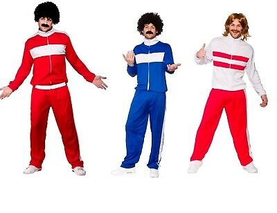 Adult 1980's TRACKIE Scouser Retro Tracksuit Stag Party Fancy Dress Costume 80's