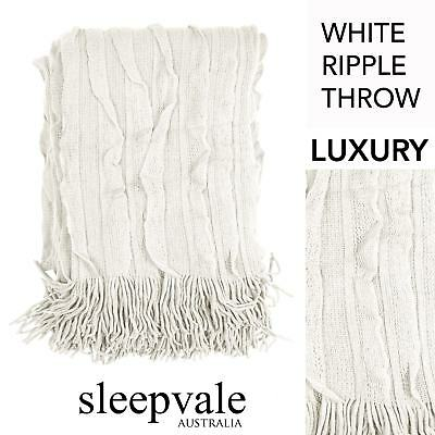 Ripple Throw White Throw Rug Brand New