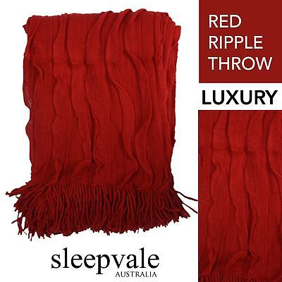 Ripple Throw Red Throw Rug Brand New