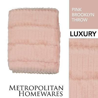 Brooklyn Throw Pink Throw Rug Brand New