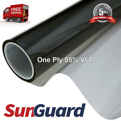 Premium Dyed Tint Film Roll 60''x100' Professional Window Tinting 05% VLT
