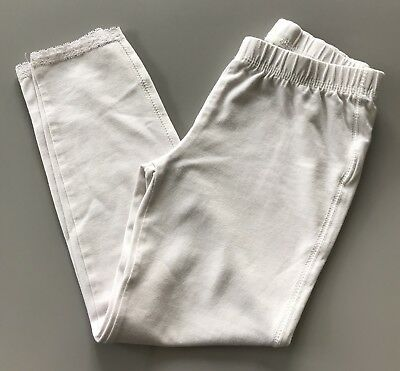 Gap Girls White Cropped Leggings - Age 6-7 Years - Excellent Condition