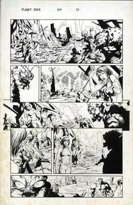 PLANET HULK original art Pagulayan & Huet! Hulk #104