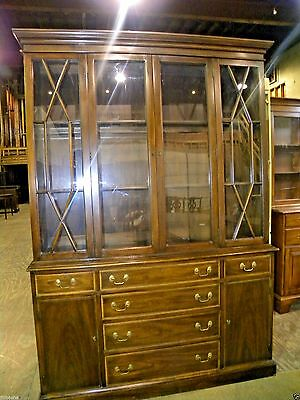 Vintage Furniture Henkel Harris Mahogany Dining Room China Cabinet Hutch