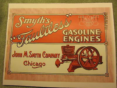 1910s John Smyth Co Faultless Gas Engine  Color Catalog All sizes