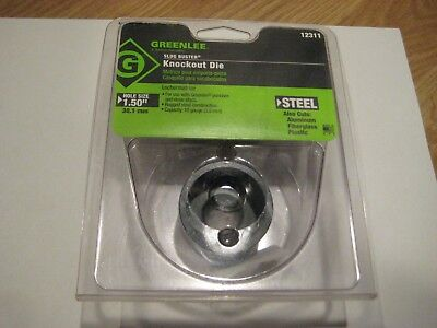 "GREENLEE - 12311 Slug-Buster Knockout Die  1 1/2"" Brand New in Pkg"