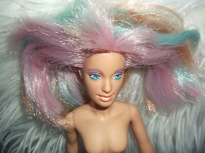 Jem and the Holograms  doll 1985 pink blue multi colored hair