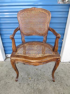 French Chair Hollywood Regency Double Cane Country Victorian Louis XI Provincial