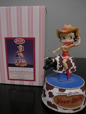 San Francisco Music Box Betty Boop Cowgirl on Bull Figure Yee - Hah