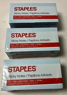 Post-It Pop Up Sticky Notes 3x3, neon 3600 Total Sheets 36 pads. Made in USA