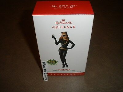 Hallmark 2016 Catwoman Batman Classic TV Series Limited Quantity Ornament MIMB