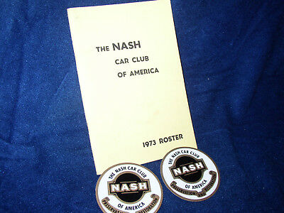 Nash Car Club of America 1978 Roster,and two Stickers