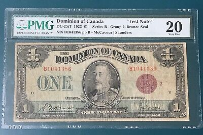DC-25iT1 1923 B DOMINION OF CANADA GROUP 2 EXPERIMENTAL BRONZE SEAL PMG VF20
