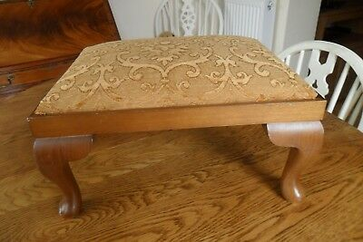 Small Vintage Foot Stool with Cabriole Legs