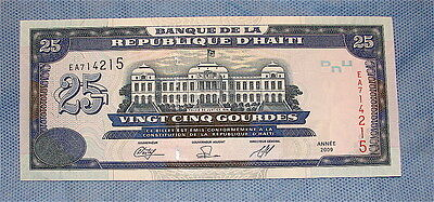 Haiti~~~2009 25 Gourdes Currency Note----Uncirculated