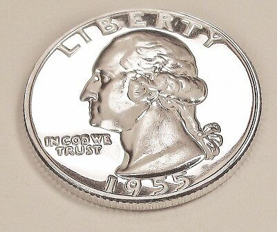 1955  Choice   Proof   Quarter  90%  SILVER  >Exact  Coin  Pictured<  #1117   18